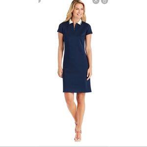 J.McLAUGHLIN • NEW Montclair Polo Dress Navy Sz M